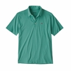 Patagonia Mens Polo Trout Fitz Roy Light Beryl Green