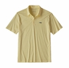 Patagonia Mens Polo Trout Fitz Roy Resin Yellow (Close Out)