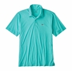 Patagonia Mens Polo Trout Fitz Roy Strait Blue