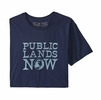 Patagonia Mens Public Lands Now Organic T-Shirt Classic Navy (Close Out)