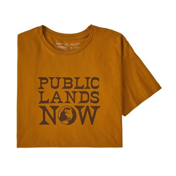 Patagonia Mens Public Lands Now Organic T-Shirt Hammonds Gold (Close Out)