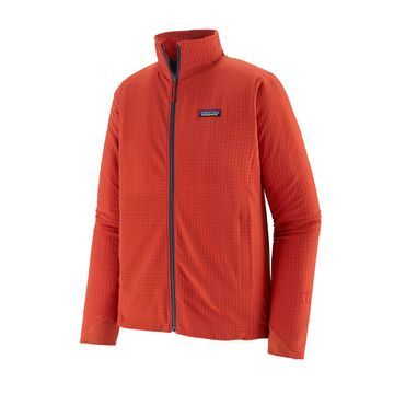 Patagonia Mens R1 TechFace Jacket Hot Ember