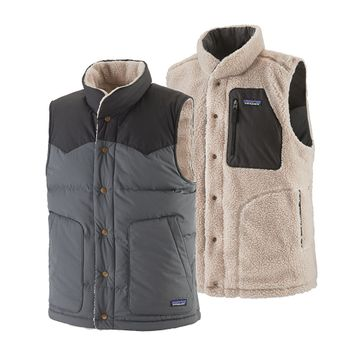 Patagonia Mens Reversible Bivy Down Vest Forge Grey (Close Out)
