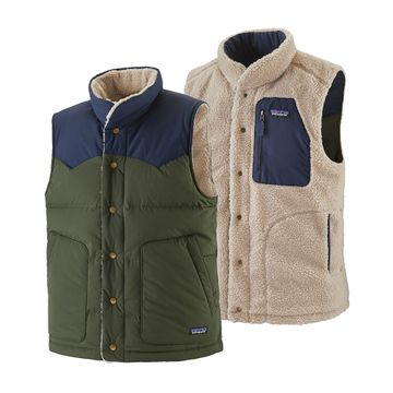 Patagonia Mens Reversible Bivy Down Vest Kelp Forest (Close Out)
