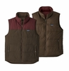 Patagonia Mens Reversible Bivy Down Vest Logwood Brown (Close Out)