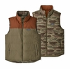 Patagonia Mens Reversible Bivy Down Vest Sage Khaki (Close Out)