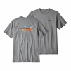 Patagonia Mens Salt Snack Responsibili-Tee Gravel Heather  (close out)