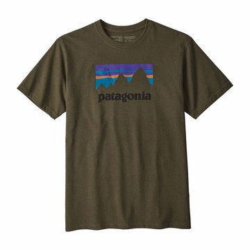 Patagonia Mens Shop Sticker Responsibili-Tee Sediment