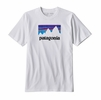 Patagonia Mens Shop Sticker Responsibili-Tee White