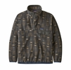 Patagonia Mens Synch Snap-T Pullover Tallgrass: Forge Grey