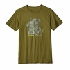 Patagonia Mens Unplug Organic T Shirt Willow Herb Green