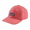 Patagonia P-6 Label Trad Cap Sticker Pink