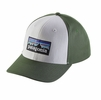 Patagonia P-6 Logo Roger That Hat White  (close out)
