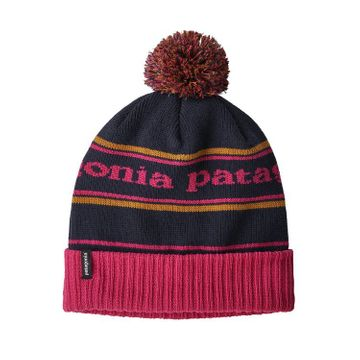 Patagonia Powder Town Beanie Park Stripe: Craft Pink w/ Navy Blue (Close Out)