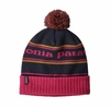 Patagonia Powder Town Beanie Park Stripe: Craft Pink w/ Navy Blue
