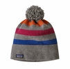 Patagonia Vintage Town Beanie Block Stripe: Light Feather Grey