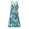 Patagonia Womens Amber Dawn Dress Tarkine Fern: Tasmanian Teal