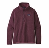 Patagonia Womens Better Sweater 1/4 Zip Fleece Light Balsamic (Close Out)