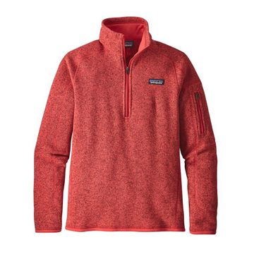 Patagonia Womens Better Sweater 1/4 Zip Fleece Tomato (Close Out)