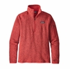 Patagonia Womens Better Sweater 1/4 Zip Fleece Tomato