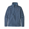 Patagonia Womens Better Sweater 1/4 Zip Fleece Woolly Blue (Close Out)