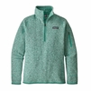 Patagonia Womens Better Sweater 1/4 Zip Lite Distilled Green