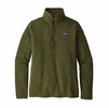Patagonia Womens Better Sweater 1/4 Zip Nomad Green