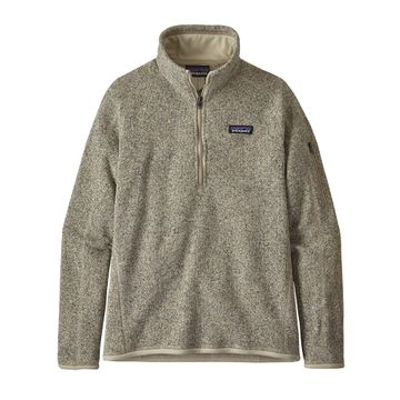 Patagonia Womens Better Sweater 1/4 Zip Pelican