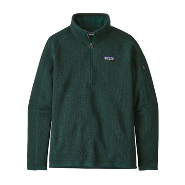 Patagonia Womens Better Sweater 1/4 Zip Piki Green