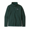 Patagonia Womens Better Sweater 1/4 Zip Piki Green (Close Out)