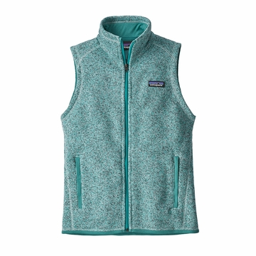 Patagonia Womens Better Sweater Fleece Vest Life Distilled Green
