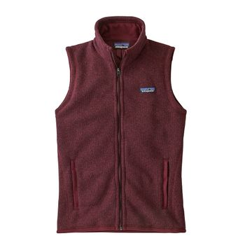 Patagonia Womens Better Sweater Vest Chicory Red