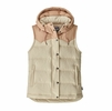 Patagonia Womens Bivy Hooded Vest Oyster White (Close Out)