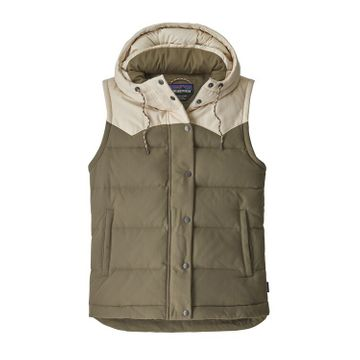 Patagonia Womens Bivy Hooded Vest Sage Khaki (Close Out)