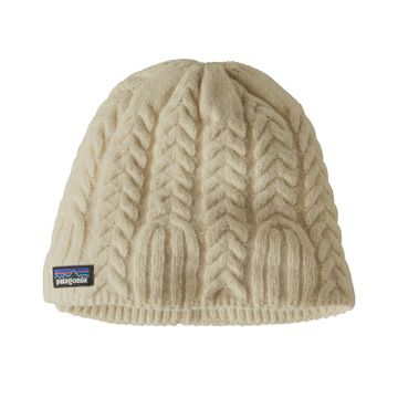 Patagonia Womens Cable Beanie Birch White (Close Out)