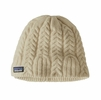 Patagonia Womens Cable Beanie Birch White