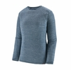 Patagonia Womens Capilene Air Crew Steller Blue: Birch White X-Dye