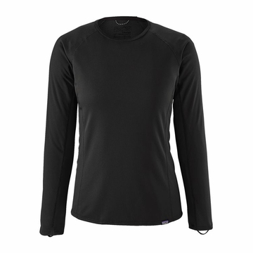 Patagonia Womens Capilene Midweight Crew Black (Close Out)
