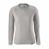 Patagonia Womens Capilene Midweight Crew Feather Grey: Tailored Grey X-Dye