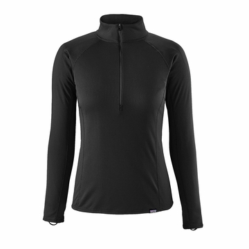 Patagonia Womens Capilene Midweight Zip-Neck Black (Close Out)