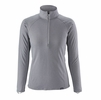 Patagonia Womens Capilene Midweight Zip-Neck Feather Grey: Tailored Grey X-Dye