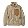 Patagonia Womens Classic Retro-X Jacket Natural w/ Nest Brown