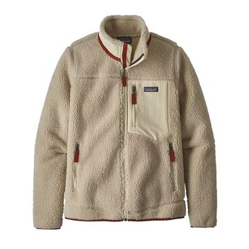 Patagonia Womens Classic Retro-X Jacket Natural w/ Oyster White