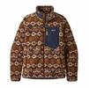 Patagonia Womens Classic Retro-X Jacket Tundra Cluster: Sisu Brown (Close Out)