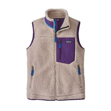 Patagonia Womens Classic Retro-X Vest Natural w/ Purple
