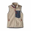 Patagonia Womens Classic Retro-X Vest Natural w/ Smolder Blue