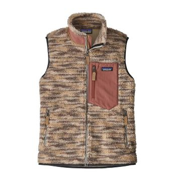 Patagonia Womens Classic Retro-X Vest Space Dye: Oatmeal (Close Out)