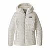 Patagonia Womens Down Sweater Hoody Birch White