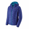 Patagonia Womens Down Sweater Hoody Cobalt Blue
