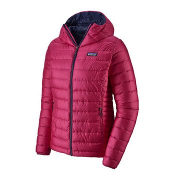 Patagonia Womens Down Sweater Hoody Crafy Pink w/ Classic Navy